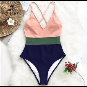 Cupshe Colorblock One Piece